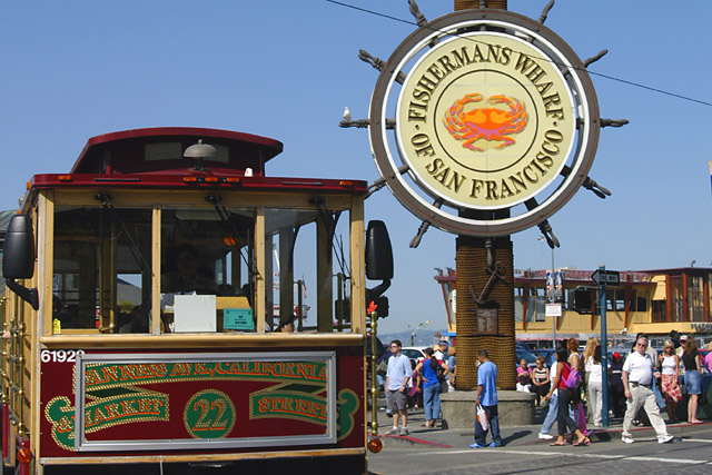 Fisherman's Wharf industrial center of San Francisco