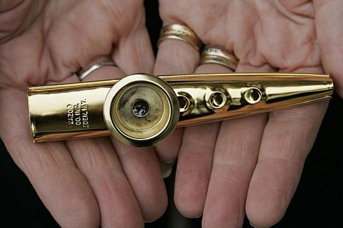 golden kazoo made in Eden, New York