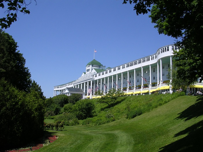 Grand Hotel on Mackinac Island, one of the most popular of all Mackinac Island tourist attractions