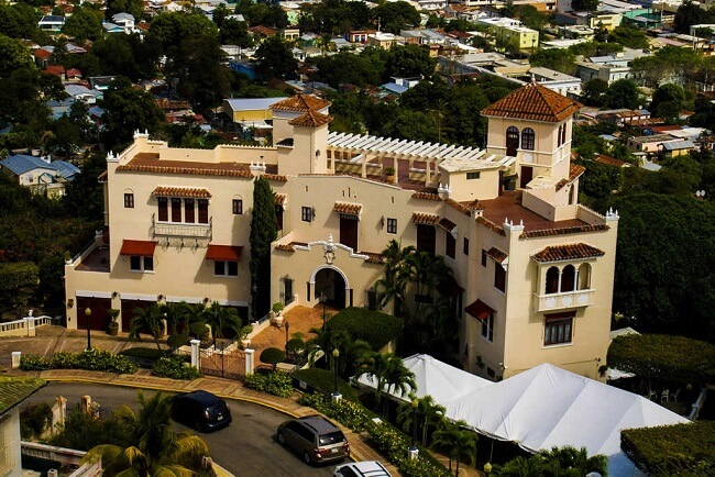 aerial view over the Museo Castillo Serrallés