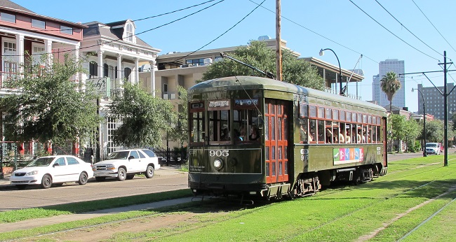 Charles Streetcar in New Orleans
