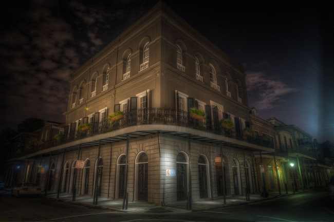 Lalaurie Mansion, a hunted house in Louisiana, New Orleans