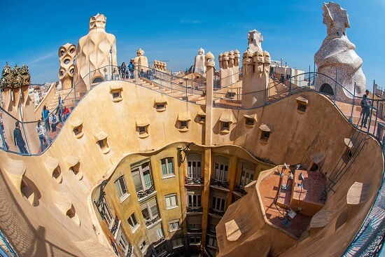 Casa Mila, an example of Gaudi architecture