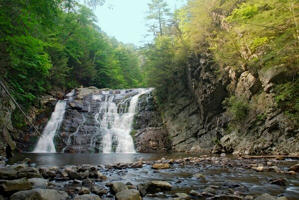 Laurel Falls, one of the most popular Great Smoky Mountains attractions