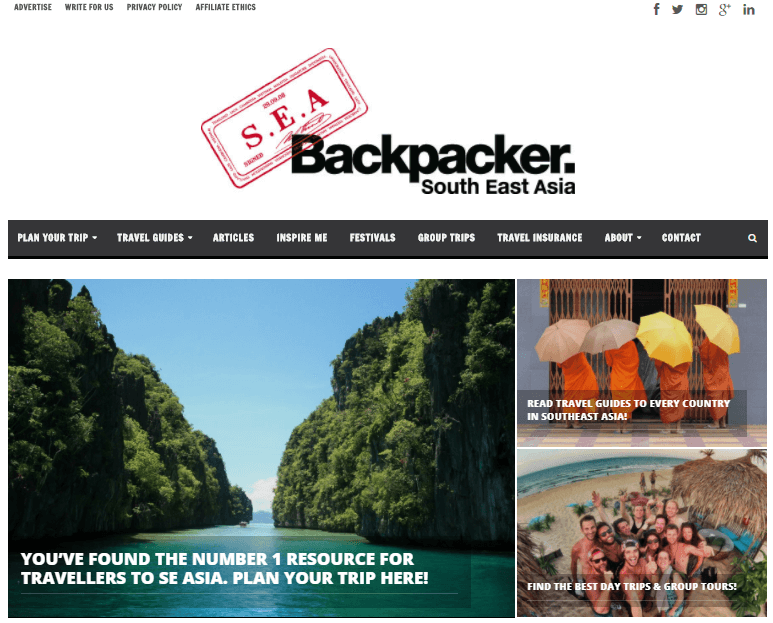 South East Asia Backpacker screenshot