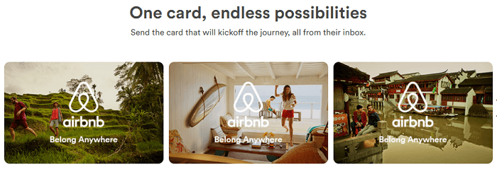 Airbnb One card, endless possibilities