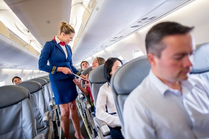 flight attendant, one of the jobs that involve traveling