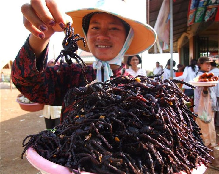 eating tarantulas, of the crazy things to do in Cambodia