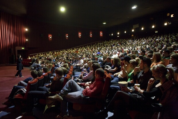 People at the cinema during a film festival