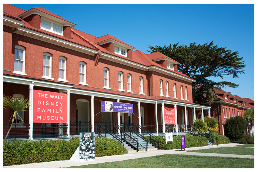 front image of walt disney family museum in san francisco