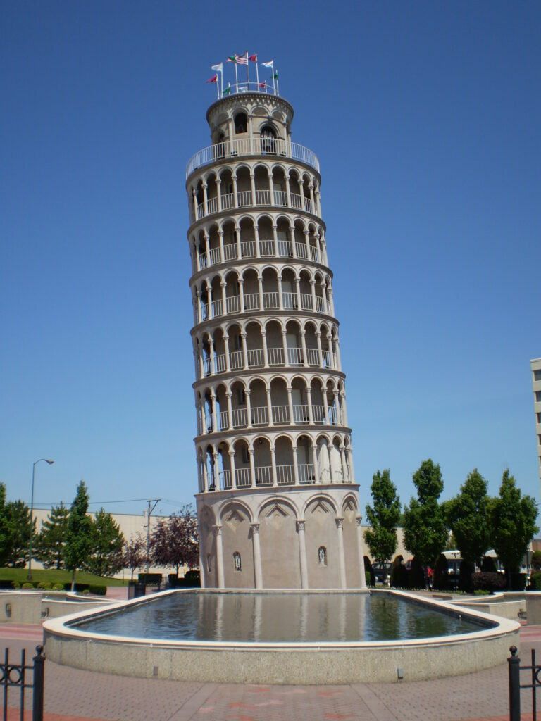 the Leaning Tower of Niles - Tourist Trap USA