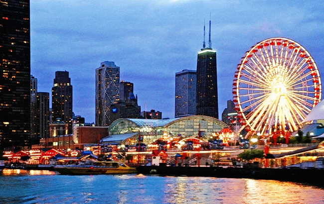 The Navy Pier by Night - Best Places to Visit in Chicago