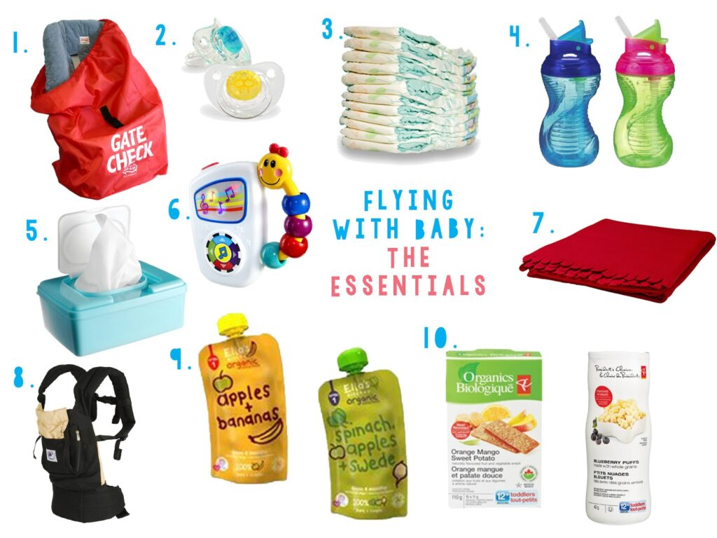 Flying with a baby essentials checklist