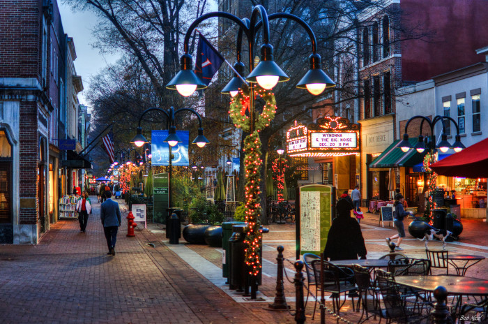 downtown charlotteville during christmas one of the best places to spend christmas in usa