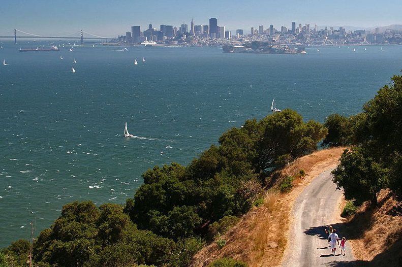 hiking down the Angel Island State Park, San Francisco