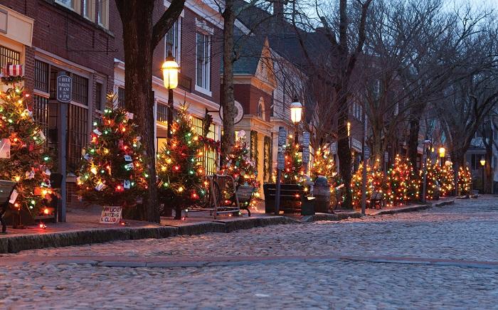 Nantucket during Christmas