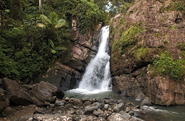 waterfall at El Yunque National Forest