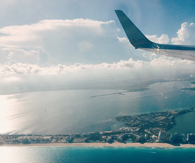 flying over Cancun, one of the best things to do in Cancun