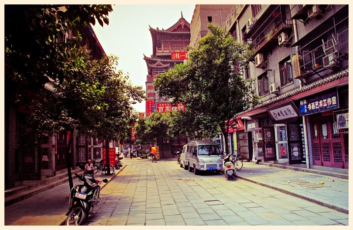 Luoyang town in China Henan province