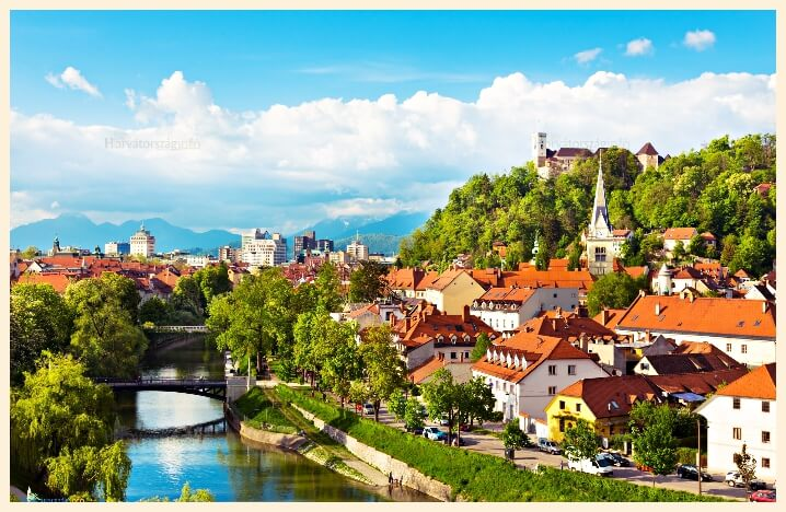 Ljubjana Slovenia stock photo