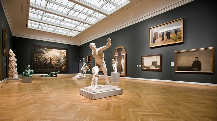 Lookinag at art at the Danish National Gallery, one of the best things to do in Copenhagen