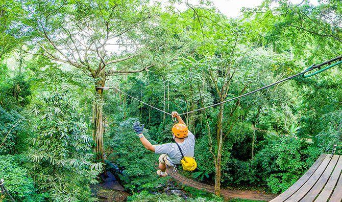 Cambodia's longest zipline