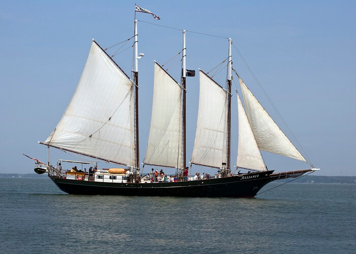 Virginia schooner Alliance sail ship