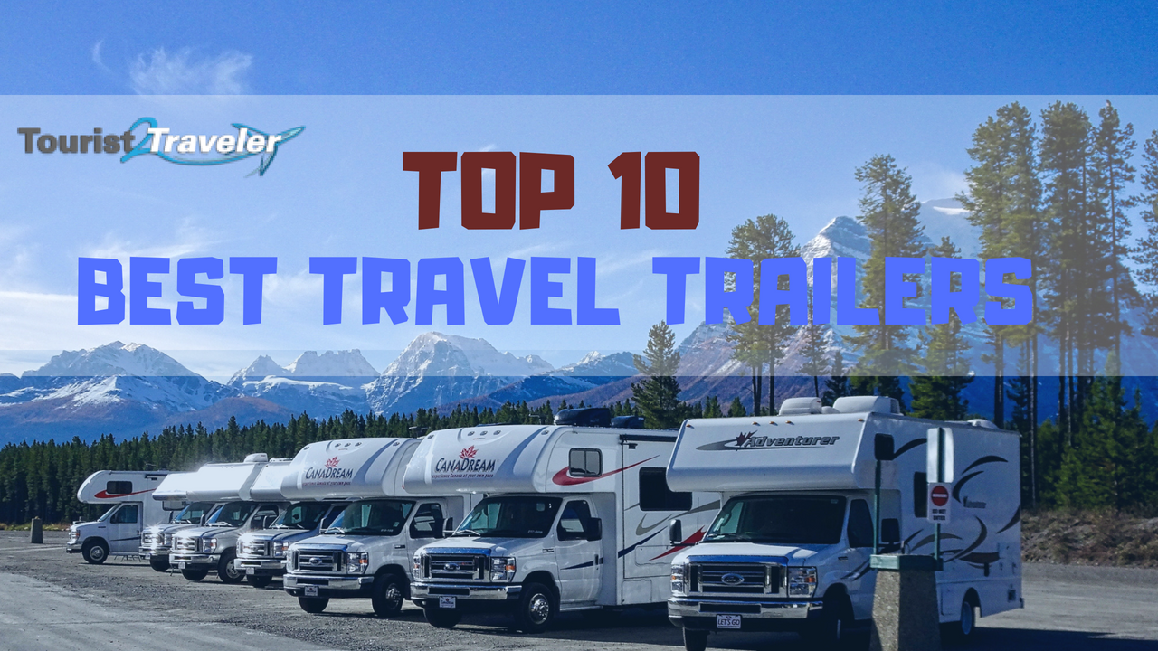 best travel trailers which features the black pearl galaxy upgrades, plus a rear living layout, triple slides, and a convenient kitchen island!