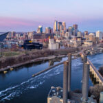 Minneapolis Skyline at Sunrise - Cityscape - Aerial - things to do in minneapolis