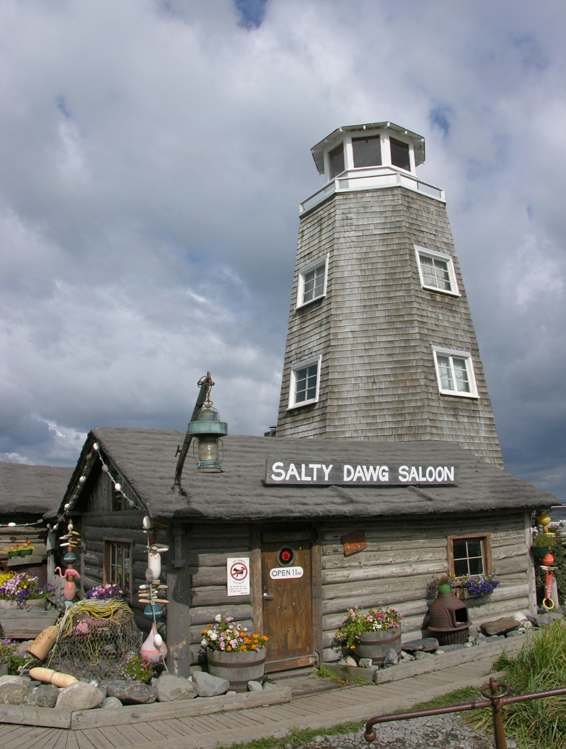 Salty dawg saloon bar in Alaska